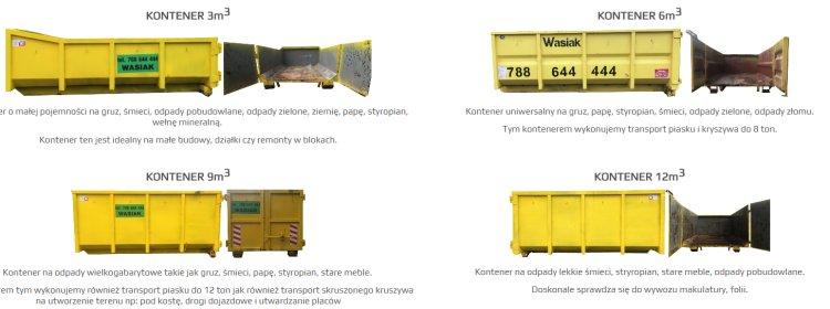 wybór kontenera
